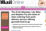 The A-List Takeaway: Housebites makes it onto the Mail Online!